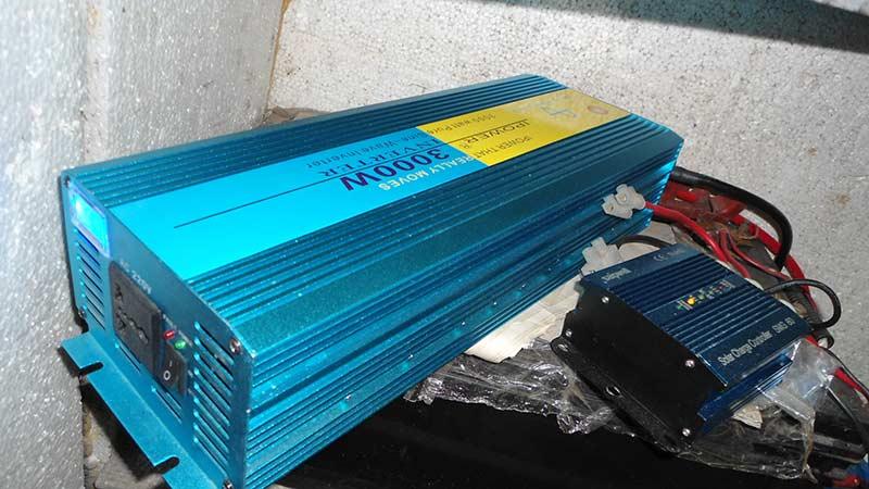 Инвертор синий