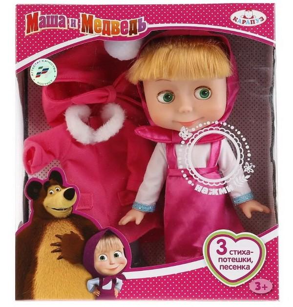 Интерактивная кукла Карапуз Маша и Медведь 25 см 83033 фото