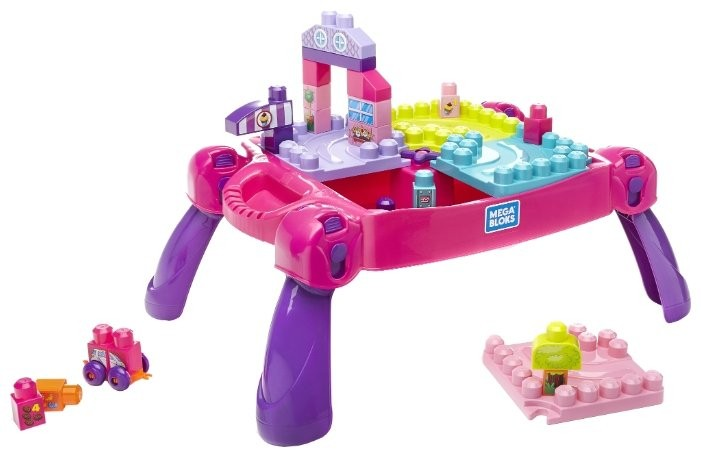 Mega Bloks Building Basics FFG22 Развивающий столик принцессы фото